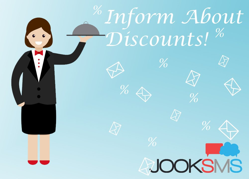 Use SMS marketing to inform about discounts